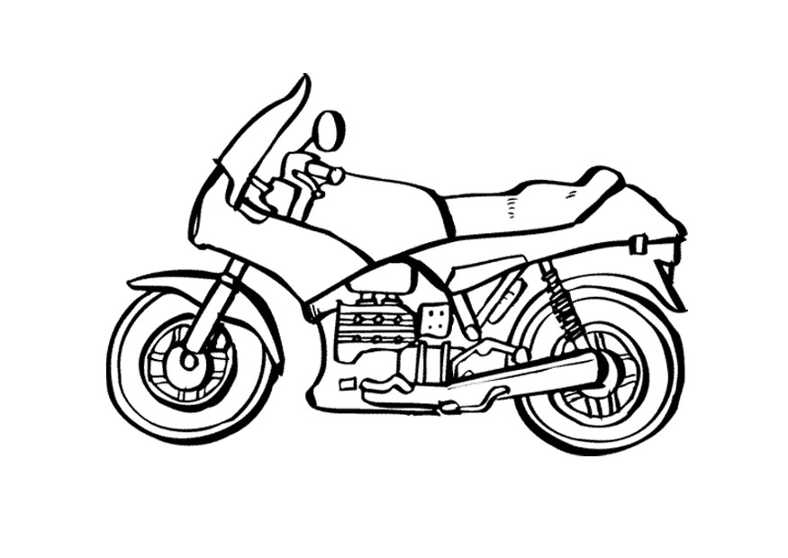 Motorcycle coloring page for kids