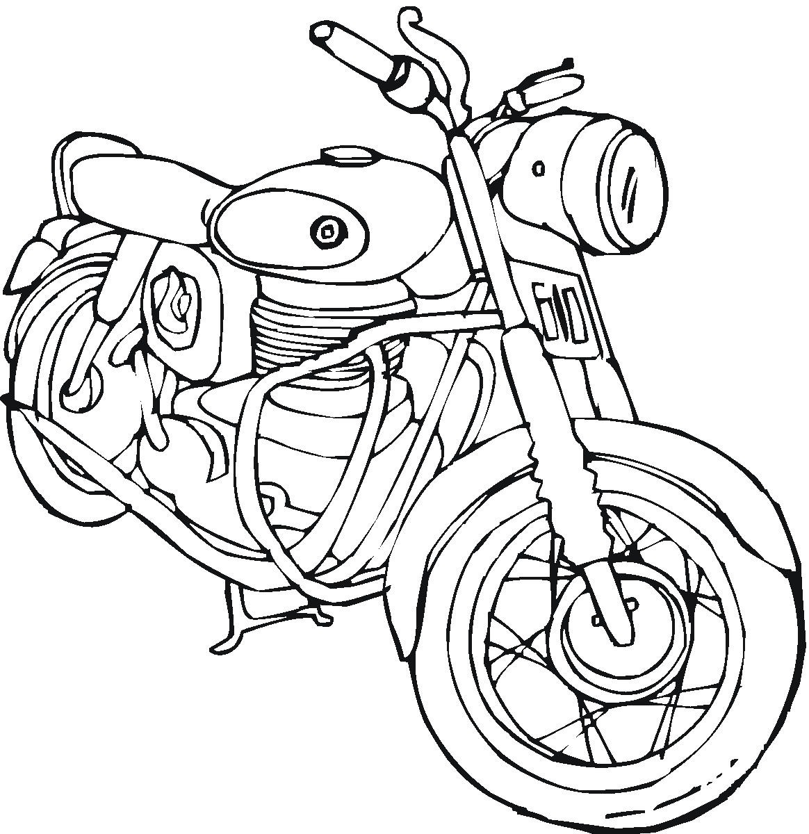 free biker coloring pages - photo#7