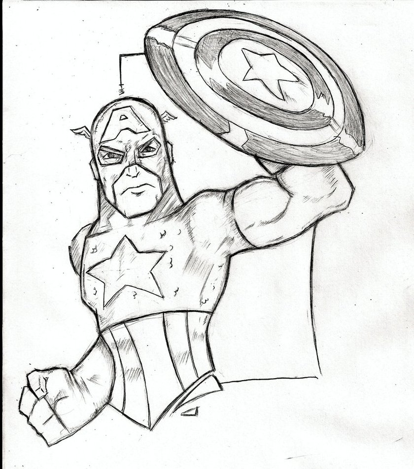 Photo of Captain America Coloring Pages