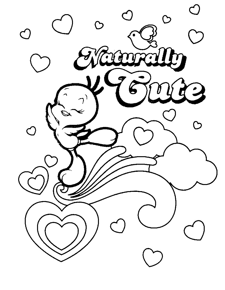 picture of tweety bird coloring pages for kids