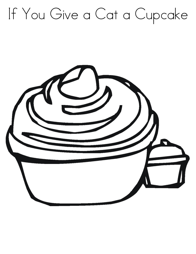 Pictures of Cupcake Coloring Pages