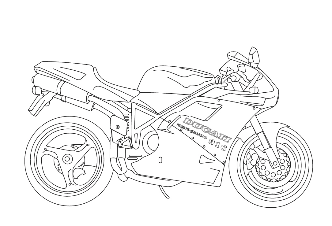 coloring pitchers : Pictures Of Motorcycle Coloring Pages