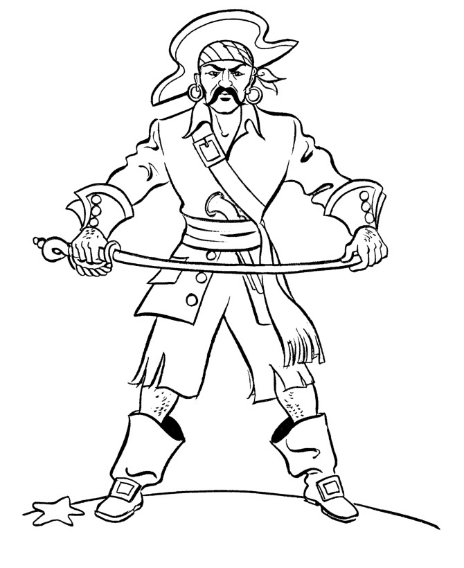 pirate coloring pages cartoon - photo#25