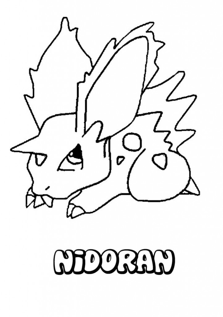 Pokemon White Coloring Pages