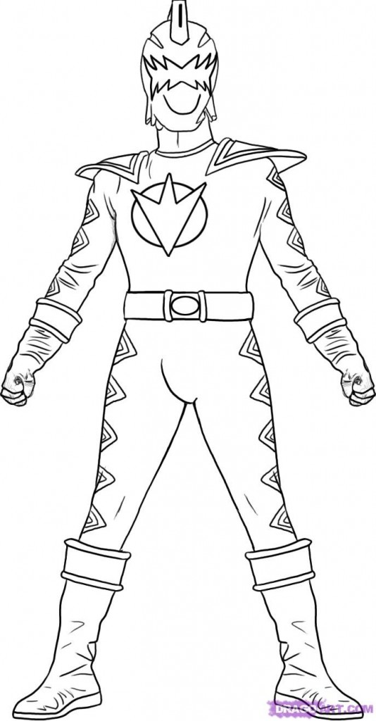 Power Ranger Coloring Page