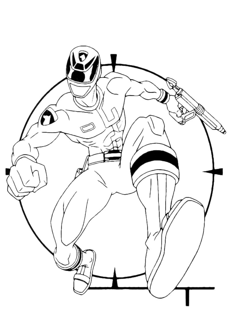 Coloring pages power rangers printable