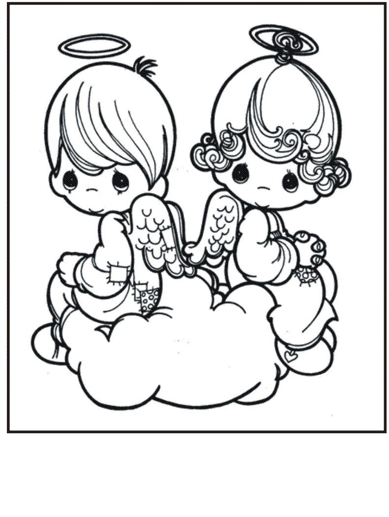 Free coloring pages nativity scene - Precious Moments Angels Coloring Pages
