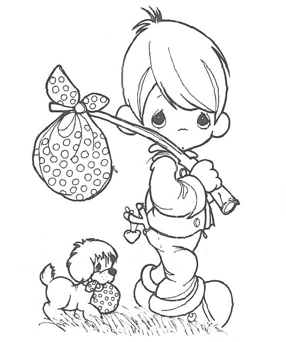Great Precious Moments Christmas Coloring Pages