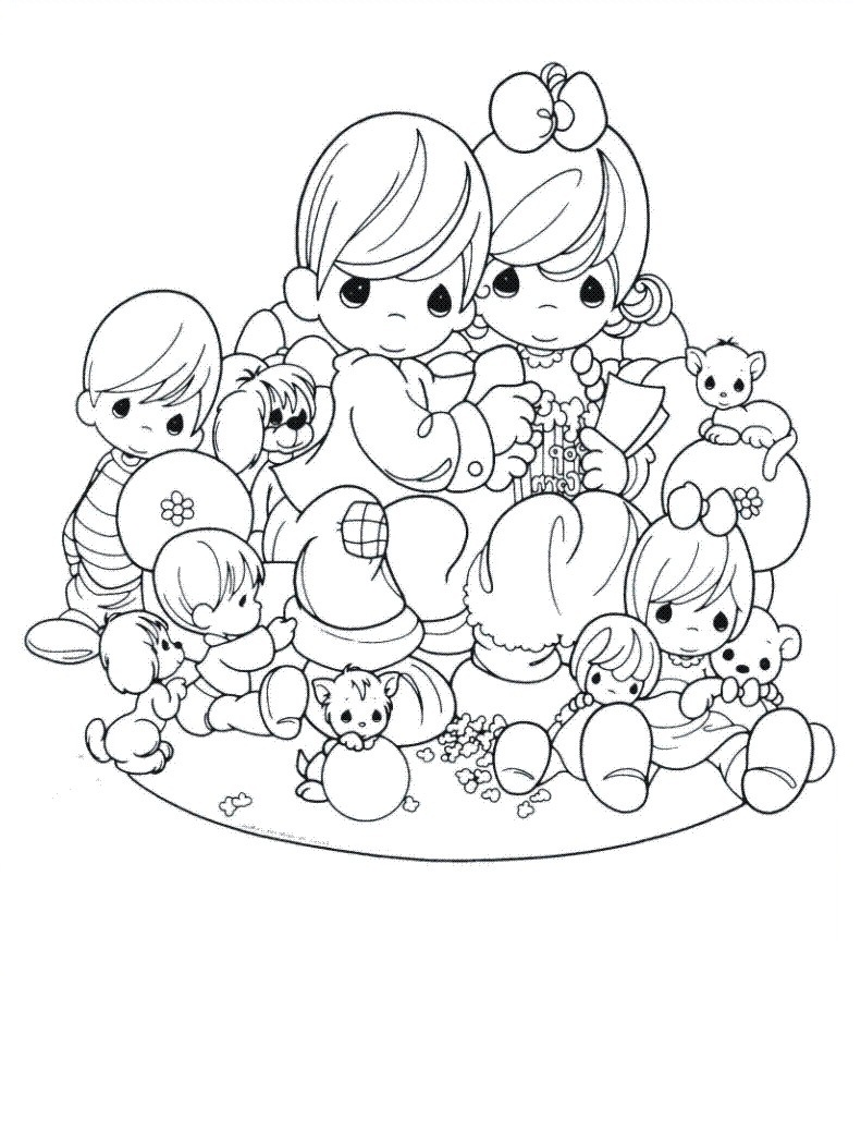 Amazing Precious Moments Coloring Pages Love