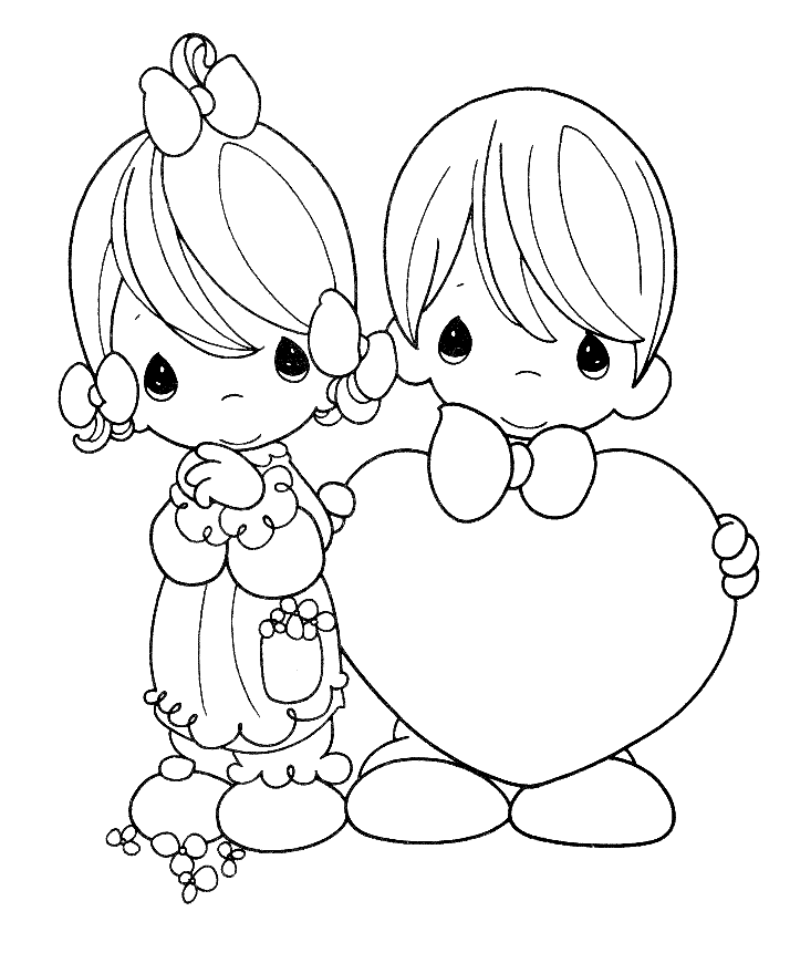 precious moments coloring pages printables - Kids Wedding Coloring Book