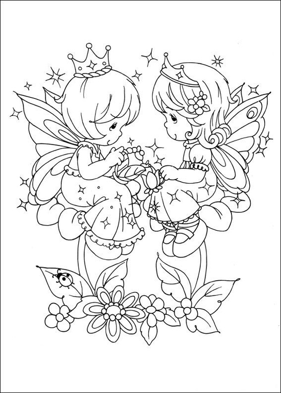 my precious moments coloring pages - photo#23