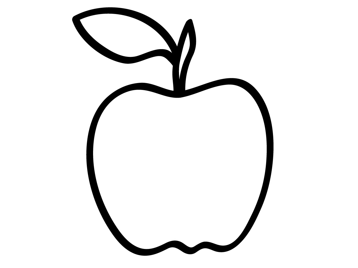 Printable coloring pages for preschoolers - Preschool Apple Coloring Pages