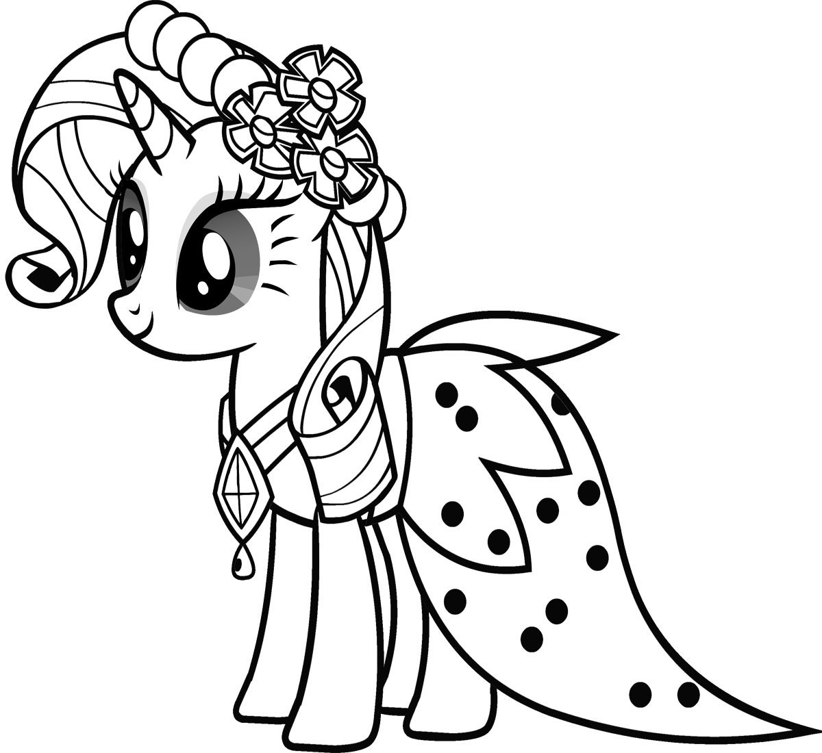 Free printable my little pony coloring pages for kids for Free printable cartoon coloring pages