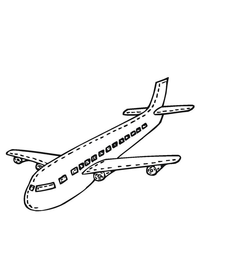 Printable Airplane Coloring Page For Kids