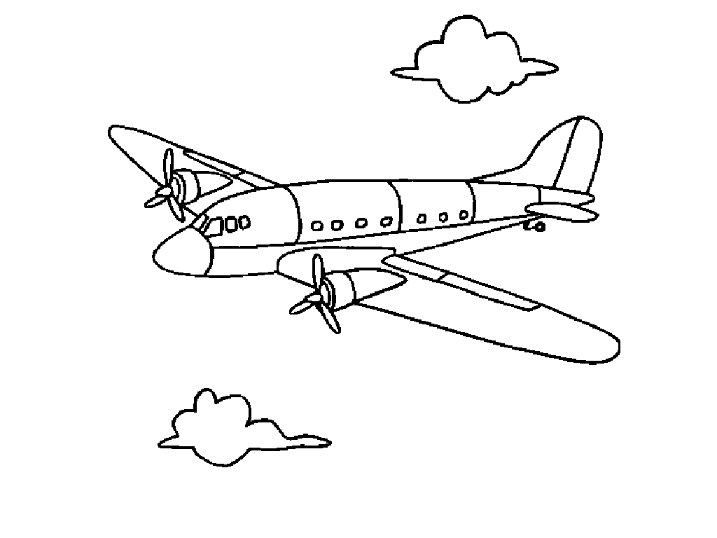 Free printable coloring pages airplanes - Printable Airplane Coloring Page Pictures
