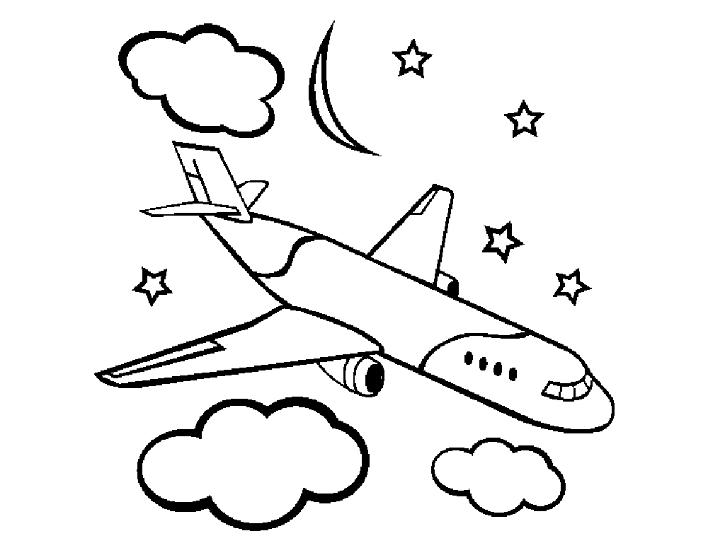 coloring book pages of airplanes - photo#3