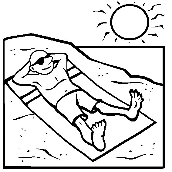 Printable Beach Coloring Page