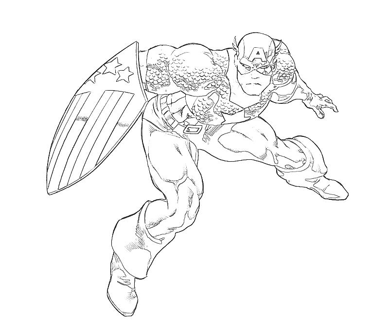 printable coloring pages capitain america - photo#13