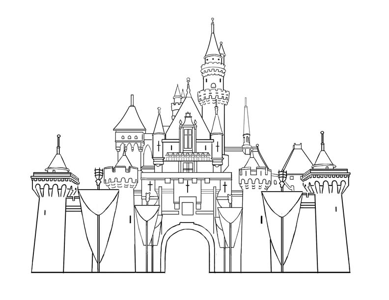 free coloring pages of castles - photo#31