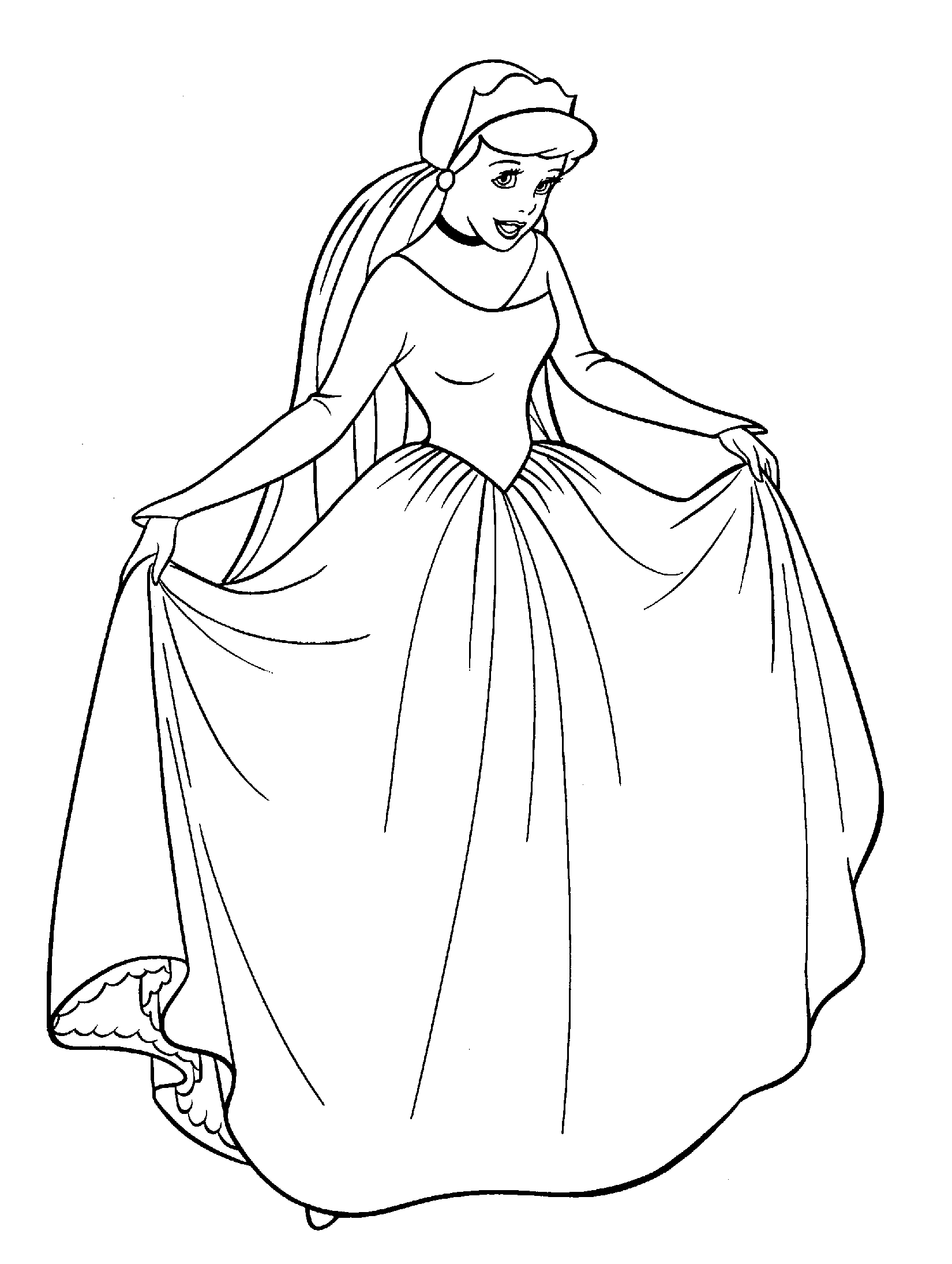 printable cinderella coloring pages