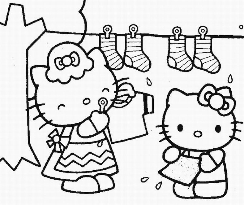 Printable Coloring Pages Hello Kitty