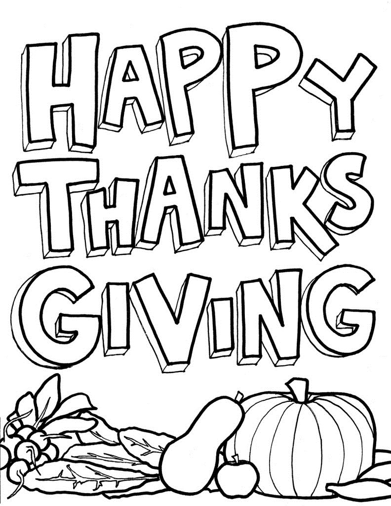 thanks giving coloring pages - photo #6