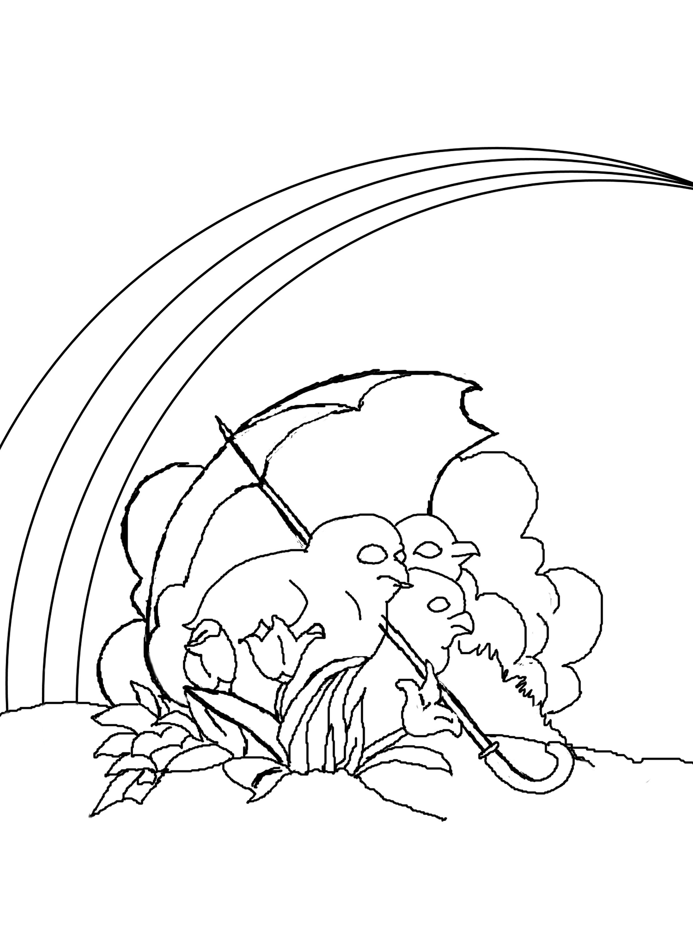 coloring rainbow pages - photo#21