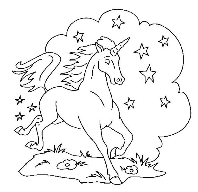 unicorn printable coloring pages - photo#33