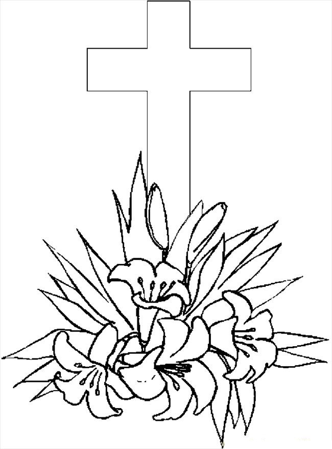 Free Printable Cross Coloring Pages For Kids Cross Coloring Page Printable