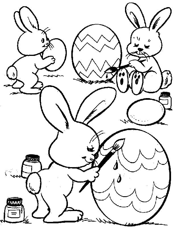 Coloring Pages To Print Easter : Free printable easter bunny coloring pages for kids