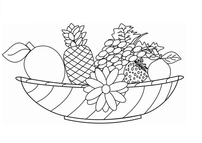 Printable Fruit Coloring Page For Kids