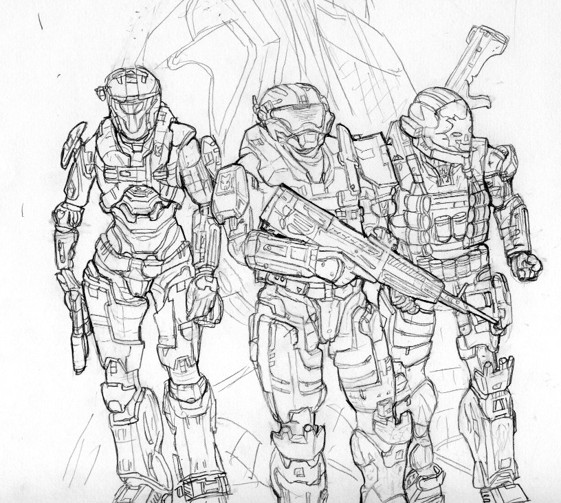 halo color pages. Printable Halo Coloring Pages For Kids Free