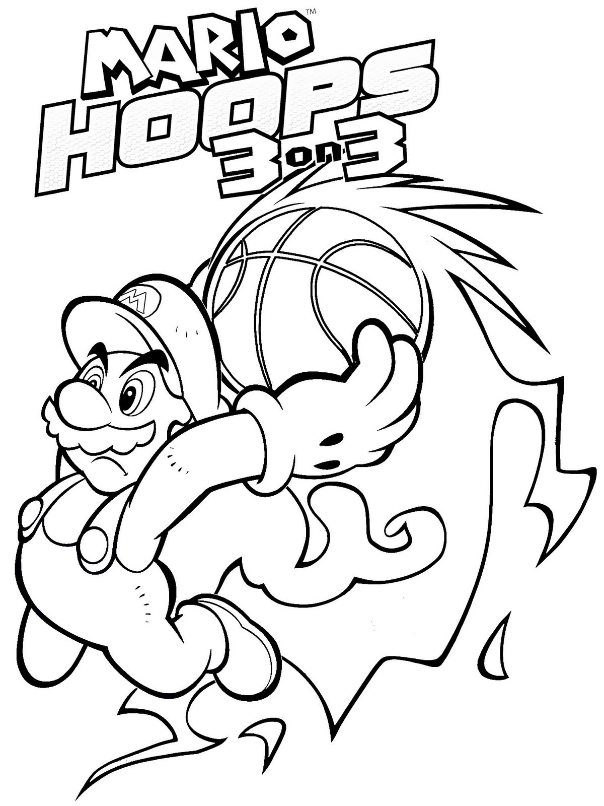 Mario bros coloring pages - Printable Mario Coloring Pages