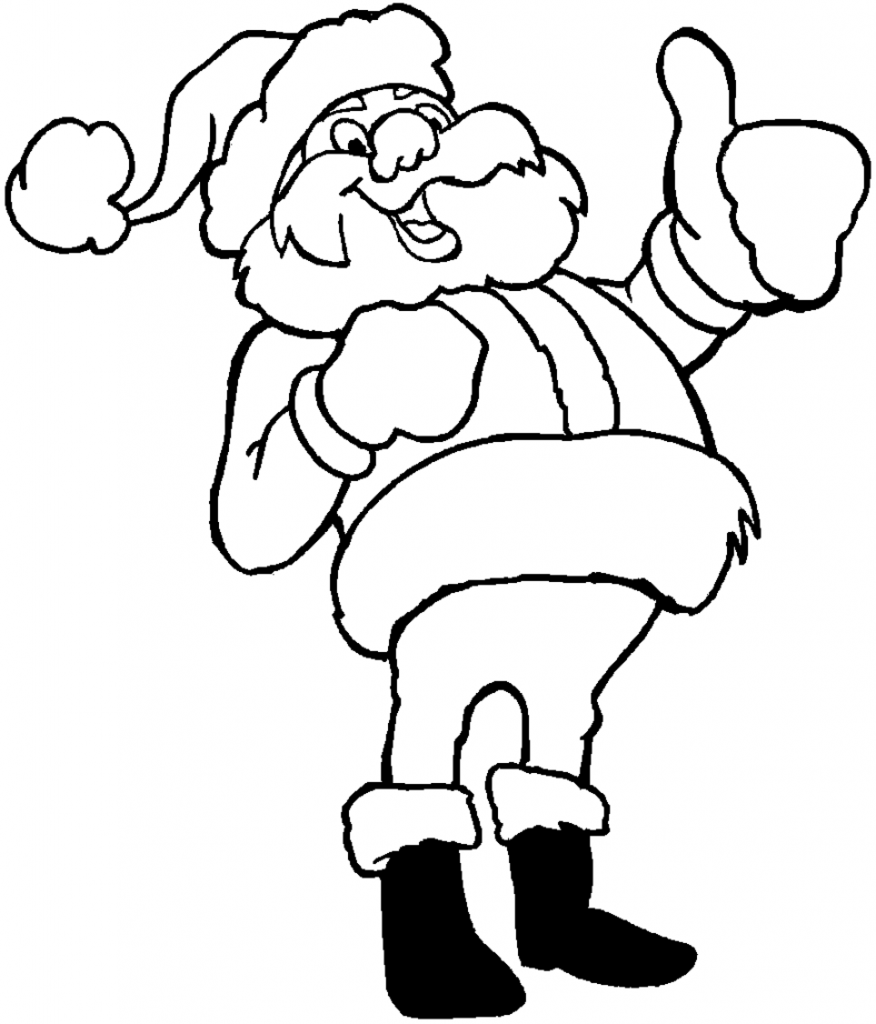 Printable Santa Claus Coloring Pages
