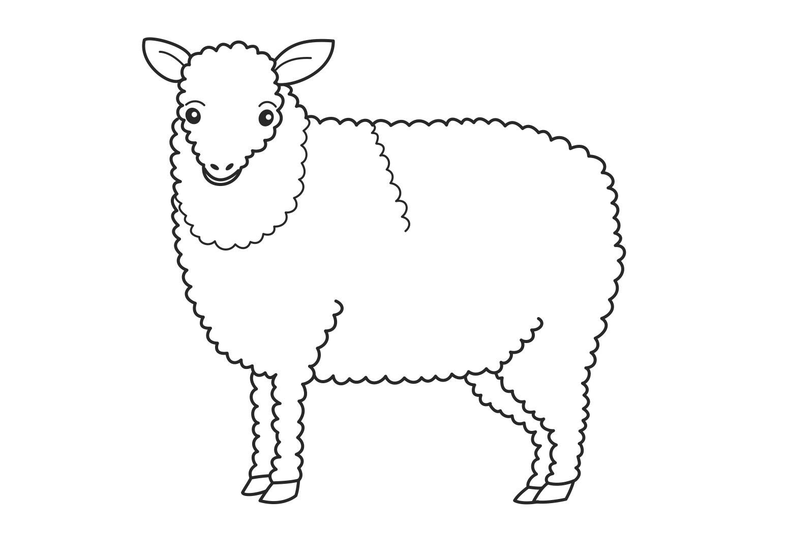 Lamb colouring pages to print - Printable Sheep Coloring Pages For Kids