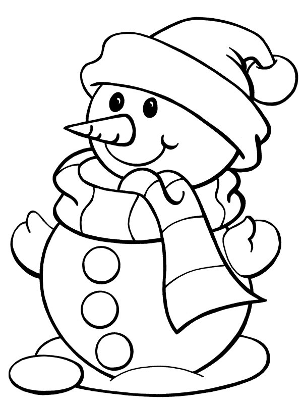 coloring pages and snowman - photo#1