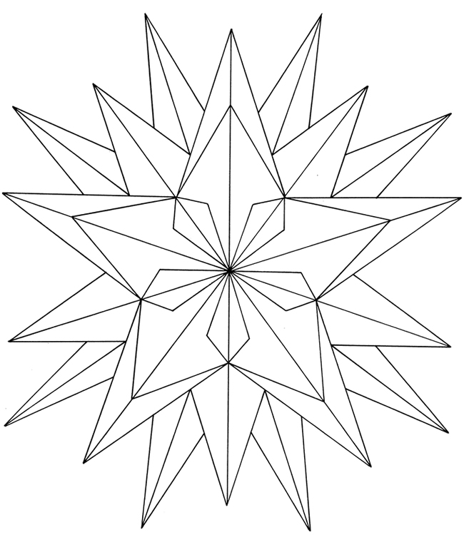 Printable Stars Coloring Pages