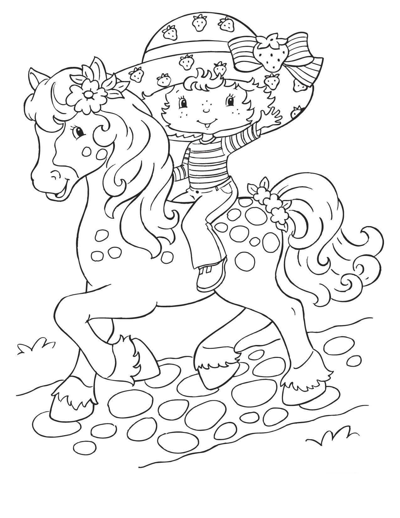 Strawberry Shortcake Christmas Coloring Pages