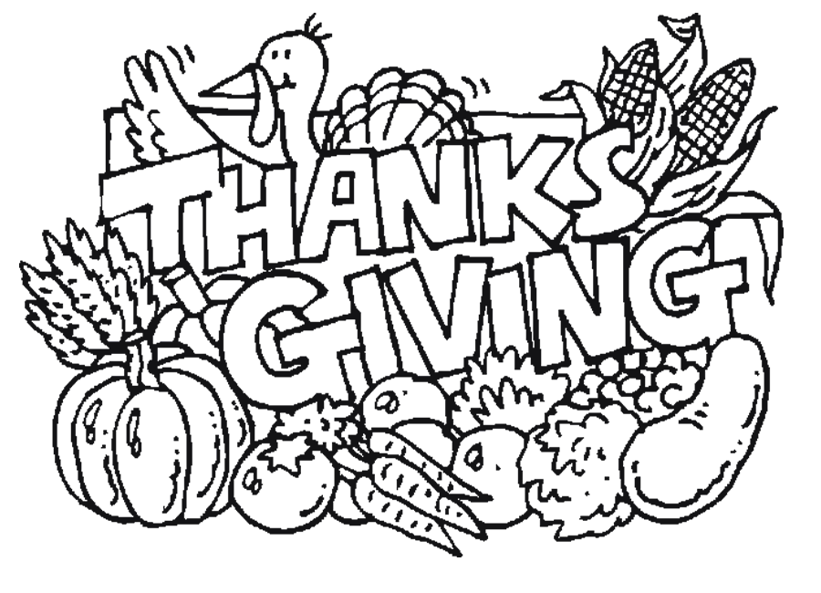 thanks giving coloring pages - photo #1
