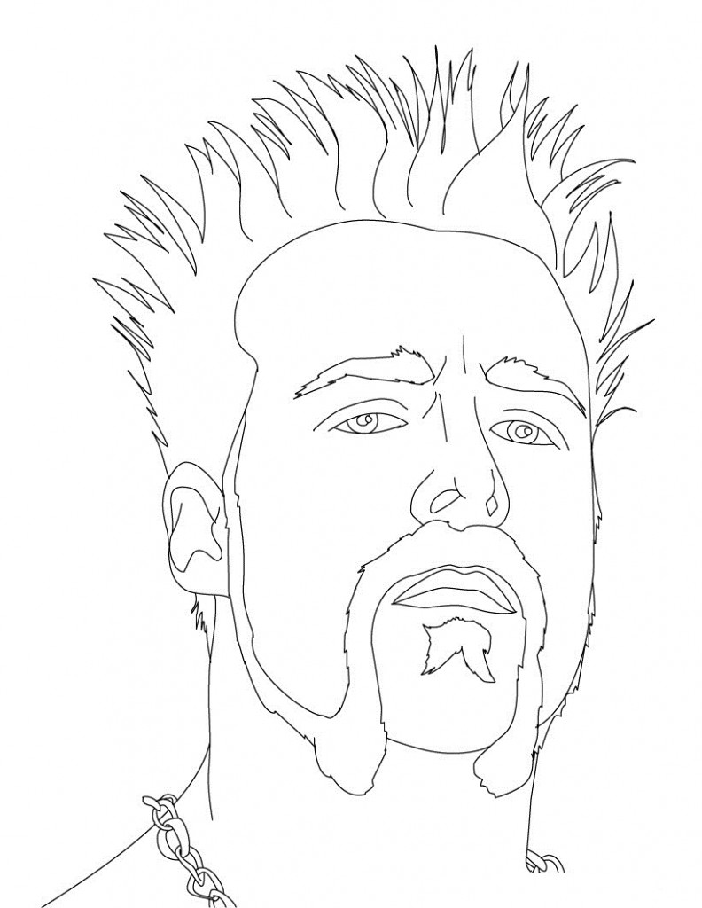 Printable WWE Wrestling Coloring Pages