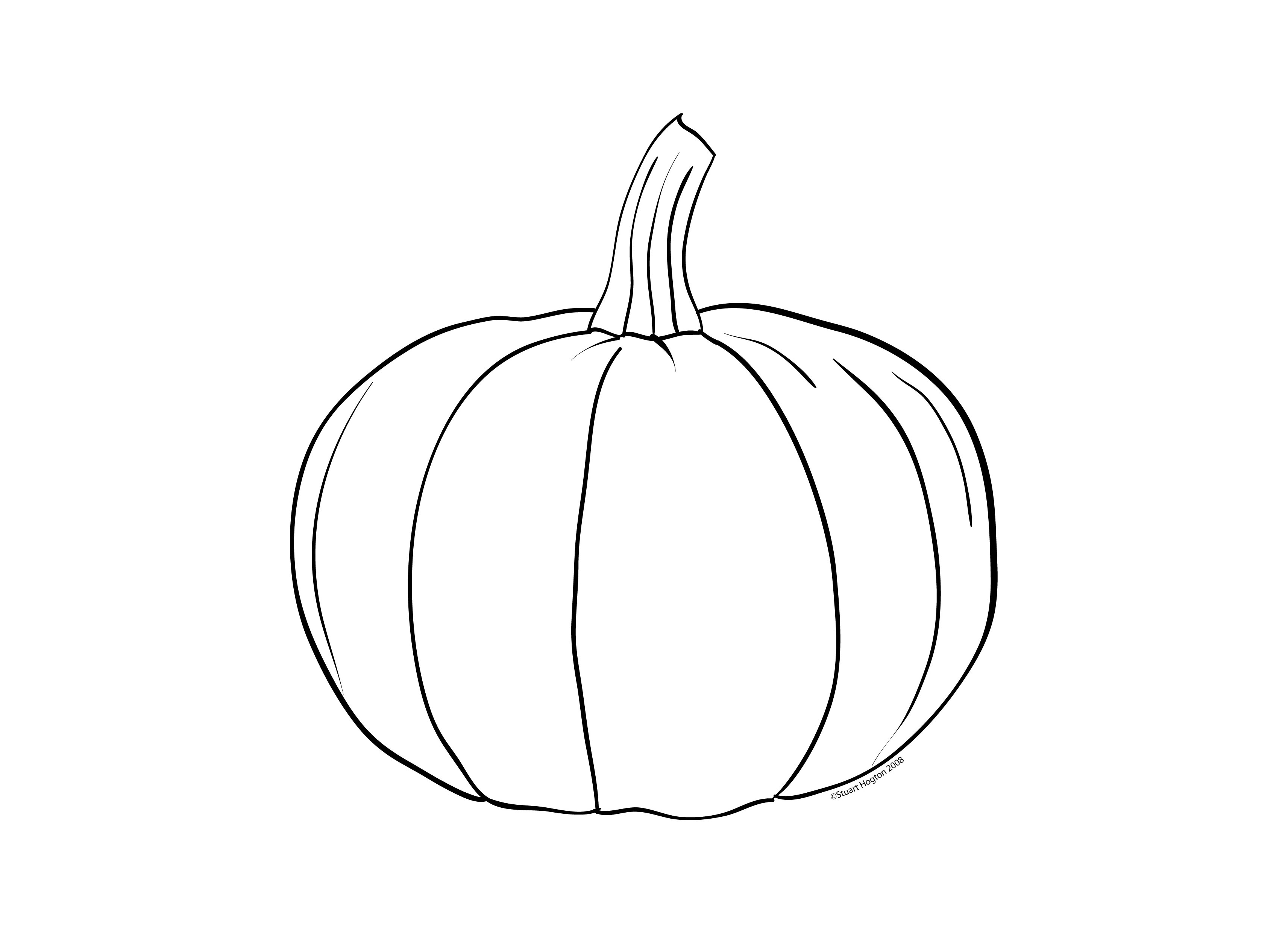 Printable coloring pages pumpkins - Pumpkin Color Pages