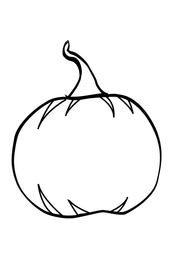 Pumpkin printable coloring pages