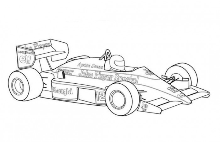 Free Printable Coloring Sheets Race Cars : Free y race car coloring pages