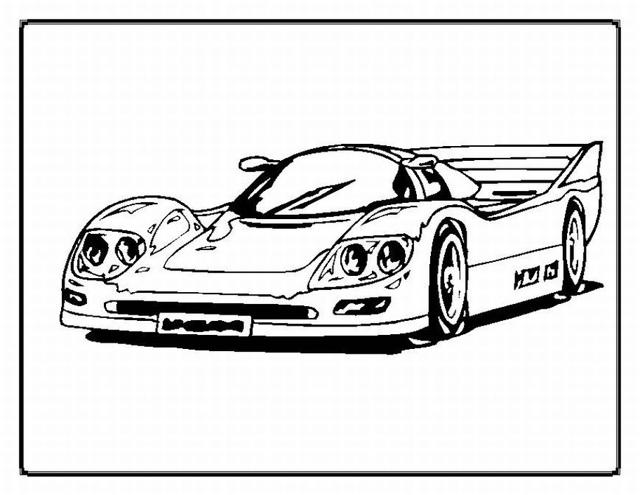 race car coloring pages free - Kids Color Pages