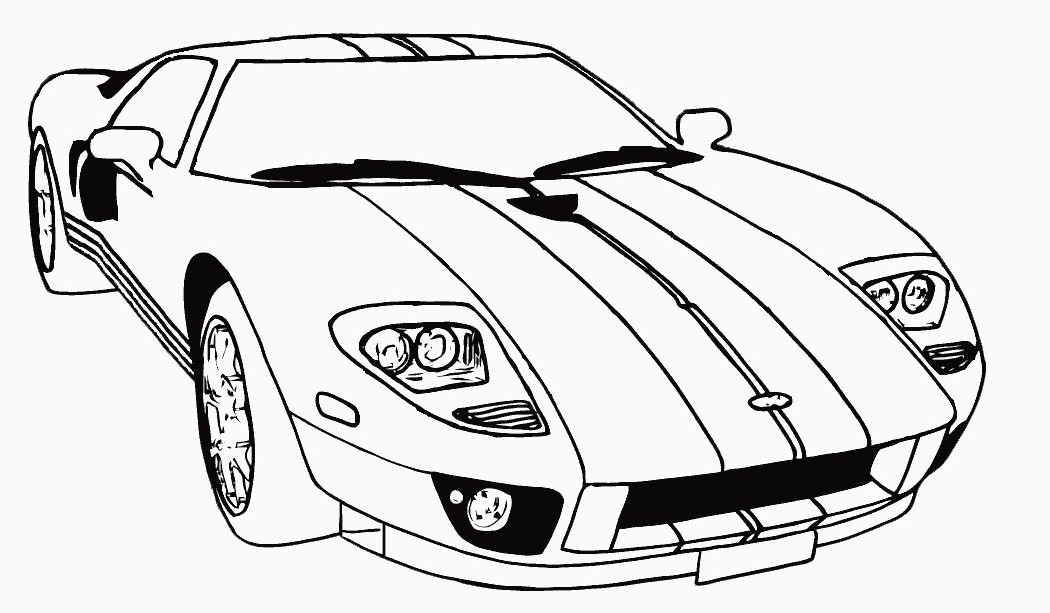 racing cars coloring pages for kids