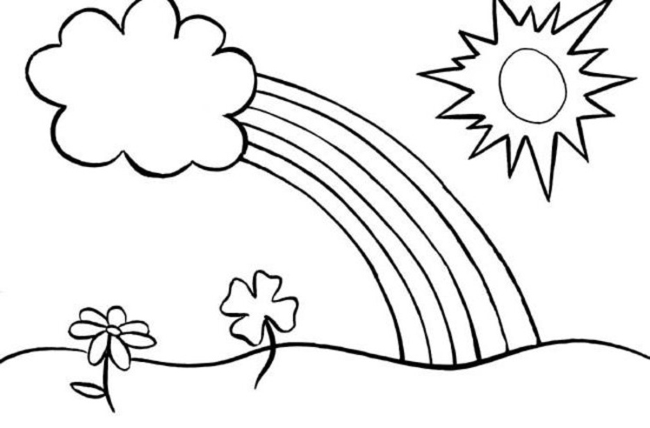 rainbow coloring pages for kid - photo#10