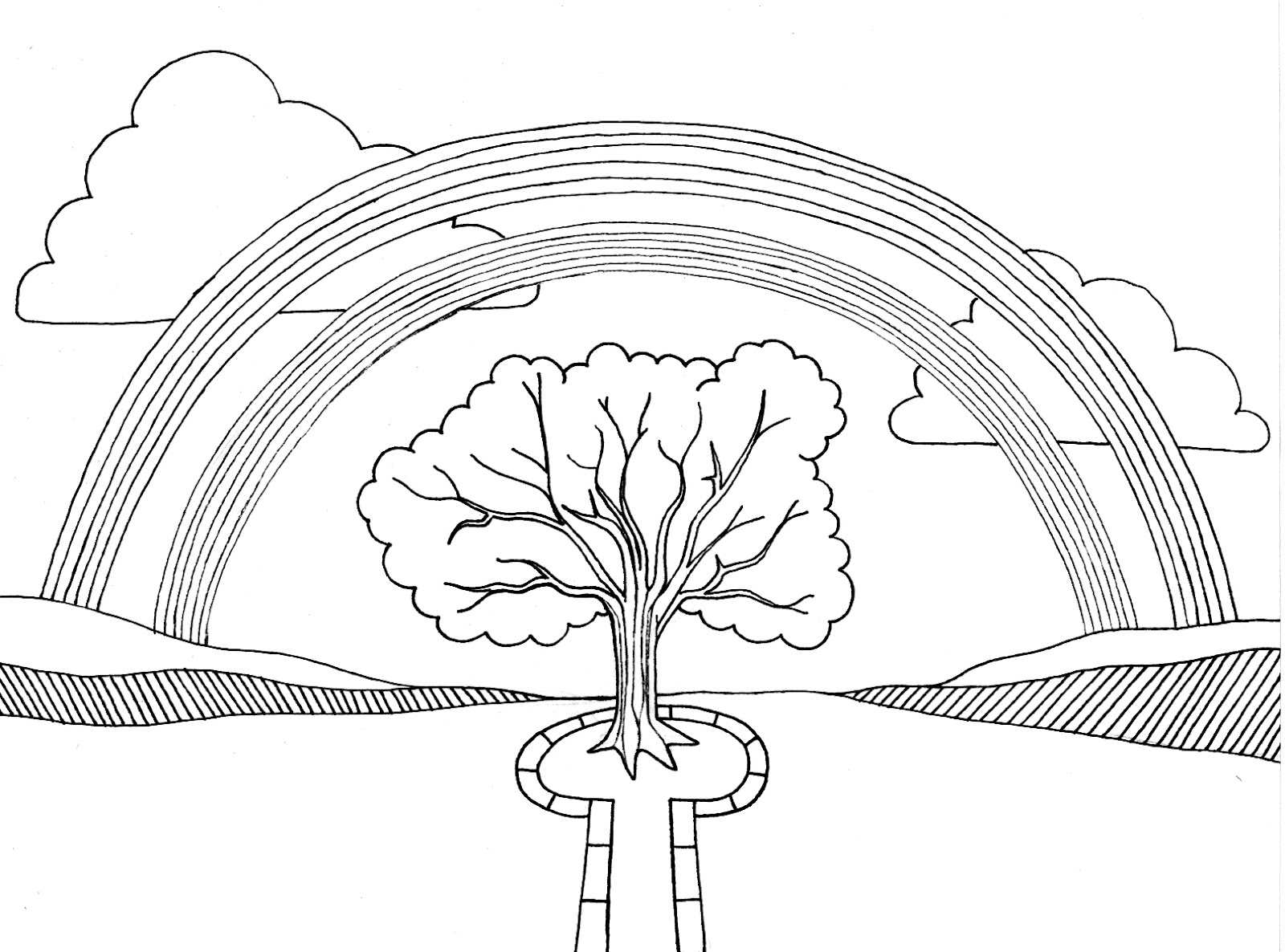 rainbow coloring pages for kid - photo#19
