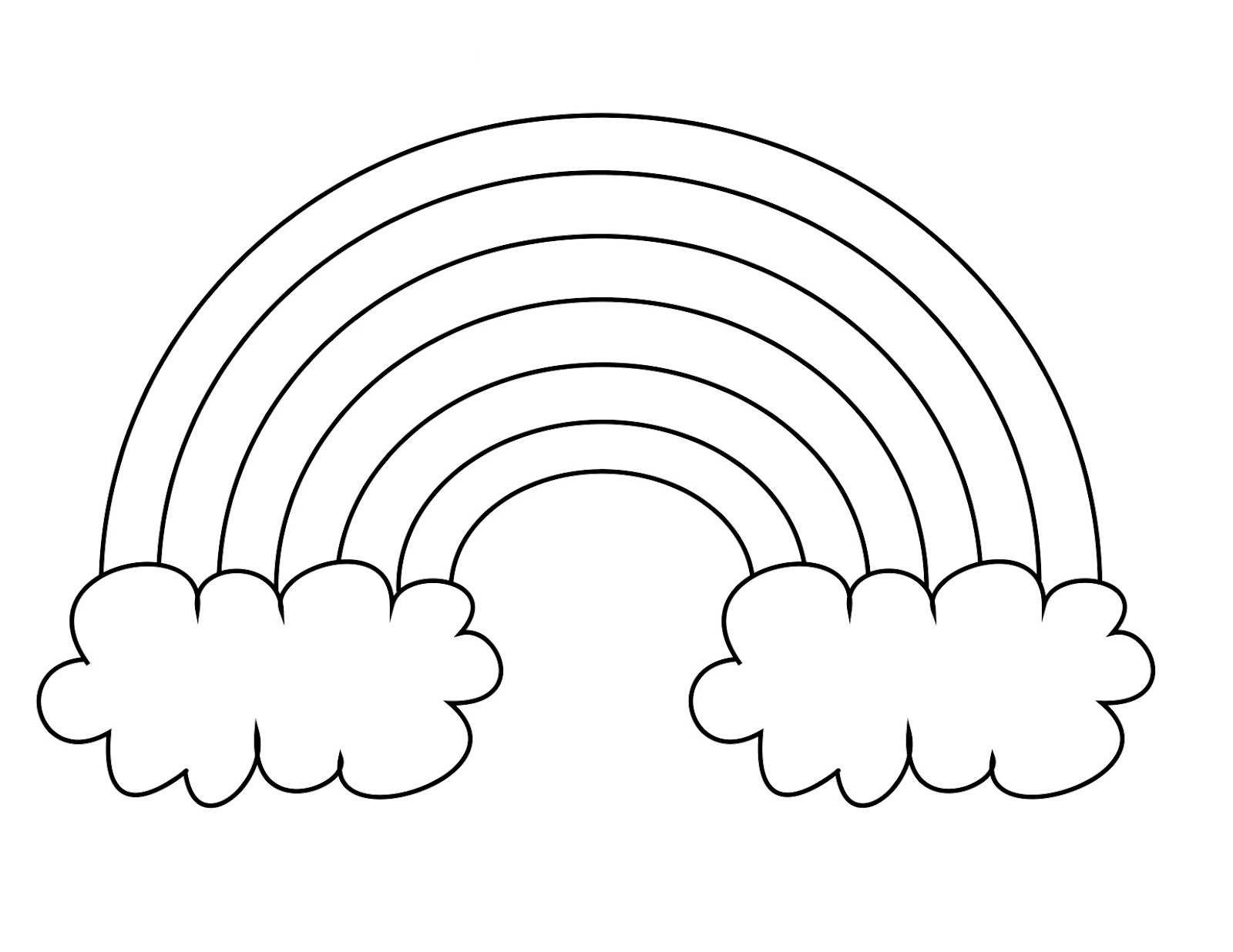 rainbow coloring pages for kid - photo#1
