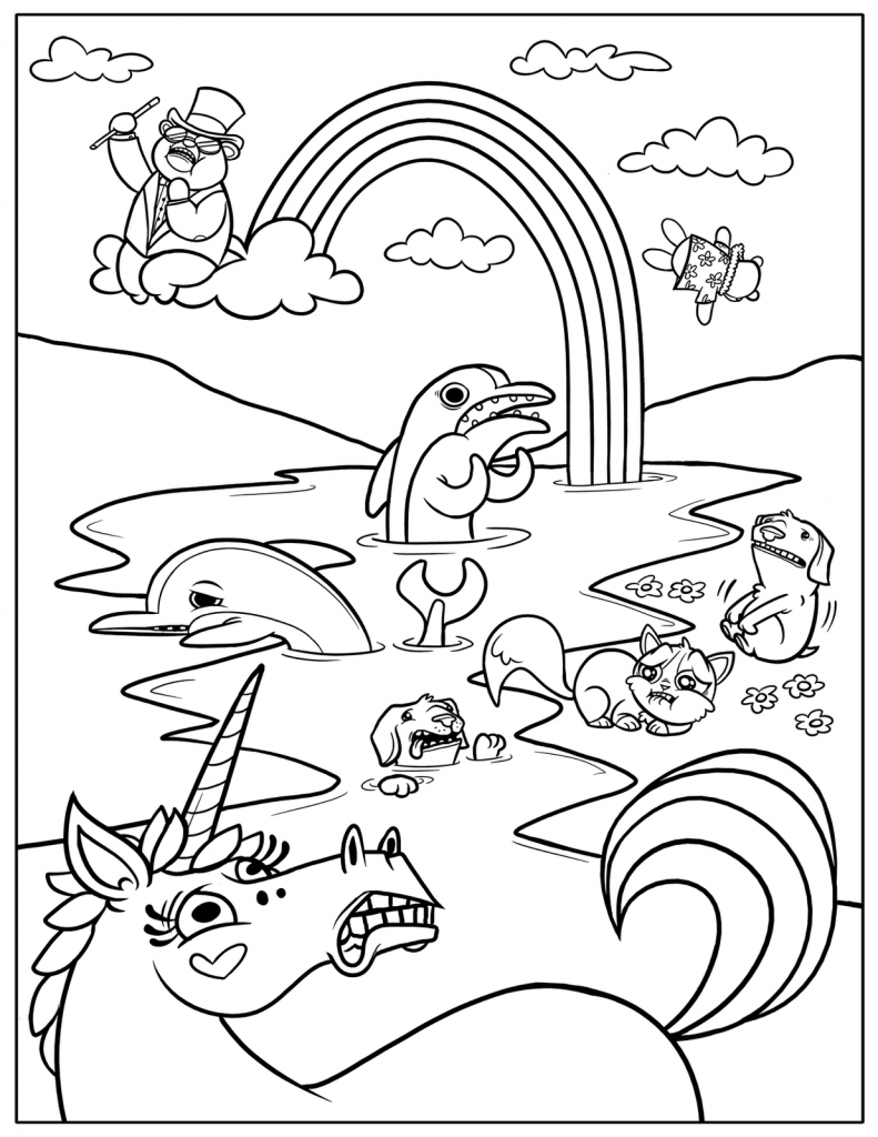 childrens coloring pages to print and color | Free Printable Rainbow Coloring Pages For Kids