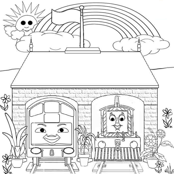 rainbow coloring pages kids - Coloring Template